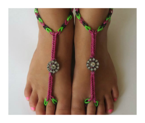 rainbow-loom-footware